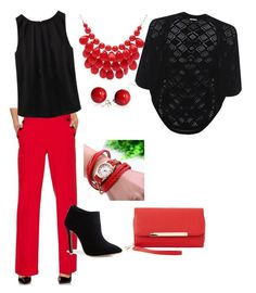 """red fun"" by carriestoup on Polyvore featuring M&Co, WithChic, Charlotte Russe, Alexa Starr and WearAll"