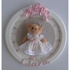 (1) Linda Princesa Ursinha Placa Quadro Porta Maternidade Perola - R$ 149,00 em Mercado Livre