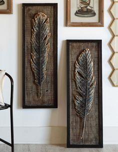 Framed Feather Wall Art