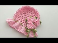 Chapéu em crochê para bebê - YouTube Crochet Kids Hats, Baby Girl Crochet, Crochet Toys, Crochet Designs, Crochet Patterns, Sombrero A Crochet, 3rd Baby, Barbie Accessories, Crochet Videos