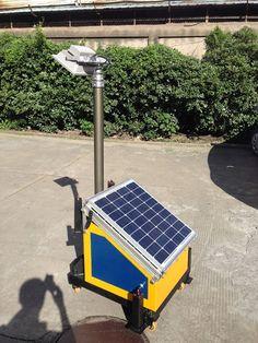 Sustentabilidade Energética Solar Termosolar e Eólica :  Torre móvel de Luminária Fotovoltaica Solar    ...