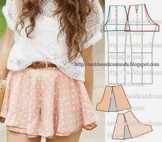 Ideas para el hogar: Molde pantalón corto estilo falda