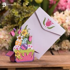 Easter Box Card SVG