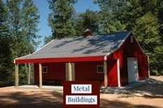 Discover the world of pole barn kits and how they can come in handy. Maybe you already have your dream home, but you need a garage. You can build yourself Pole Barn House Kits, Pole Barn Shop, Diy Pole Barn, Metal Pole Barns, Pole Barn Garage, Building A Pole Barn, Pole House, Pole Barn House Plans, Metal Building Homes