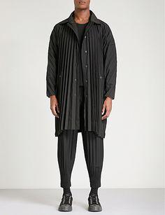 HOMME PLISSE ISSEY MIYAKE Edge pleated coat
