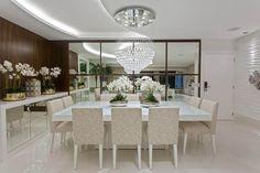 buffet para sala de jantar com espelho