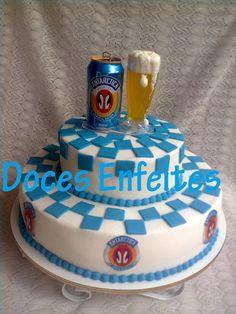 Bolo da Cerveja Antarctica Encomendas:(21) 2652-6583 Veja também: www.docesenfeites.blogspot.com