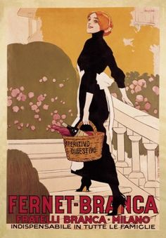 Fernet-Branca Aperitivo Digestivo Vintage Food&Drink Poster – Poster Paper, Sticker or Canvas Print For Bulk Orders (minimum order 30 items) please Vintage Italian Posters, Vintage Advertising Posters, Vintage Travel Posters, Vintage Advertisements, Vintage Ads, Vintage Food, Retro Poster, Poster Ads, Poster Vintage