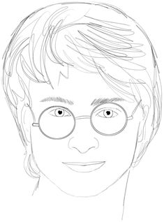 potter harry draw drawing step daniel radcliffe easy drawings sketch lesson dobby tutorial fun sketches pencil drawinghowtodraw hair hedwig portrait