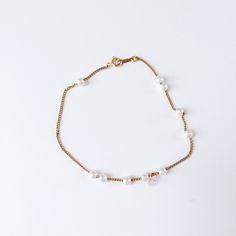 Rackk & Ruin :: Diamond & Pearls Orbit Bracelet