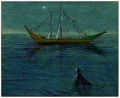 """""""The Little Mermaid"""" by Kay Nielsen."""