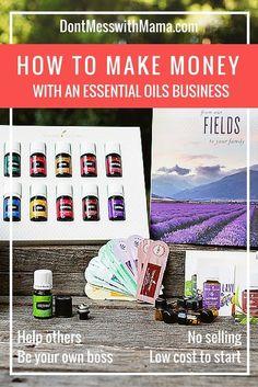 How to Make Money with a Young Living Essential Oils Business #business #essentialoils - DontMesswithMama.com