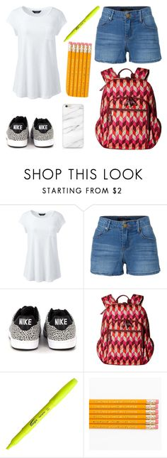 """""""Simple Does The Trick!"""" by qwertyuiop-sparta ❤ liked on Polyvore featuring Lands' End, LE3NO, NIKE, Vera Bradley and FriendIcon"""