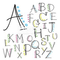 Illustration about Black colorful alphabet uppercase letters.Hand drawn written with a soft watercolor paint brush chalk pencil. Illustration of language, background, alphabet - 63342137 Hand Lettering Alphabet, Doodle Lettering, Hand Drawn Lettering, Simple Lettering, Lettering Ideas, Handwriting Fonts Alphabet, Pretty Fonts Alphabet, Calligraphy Letters Alphabet, Alphabet Letters Design