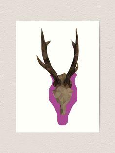 """Hirsch, Deer, Animal, Tier, Homemade"" Kunstdruck von GlobalDesignIbk | Redbubble Deer, Moose Art, Homemade, Design, Animals, Art Print, Printing, Art Production, Animales"