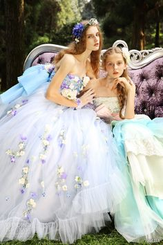tiglily spring summer 2015 bridal amore japanese romantic lavender mint strapless ball gown wedding dress style c129 c128 wedding dress