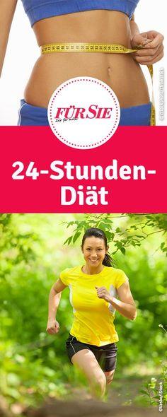 24-Stunden-Diät - einen Tag vor der Party noch Pfunde loswerden? Wir haben einen genauen Ernährungsplan und das Sport-Programm für schnelles Abnehmen.