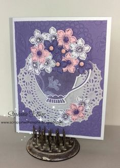 Stampin up flowering flourishes and petite petals stamp set. Occasions Nice Cuppa stamp set