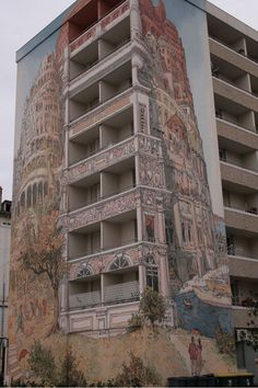 I love this sort of think! Turn an ugly apartment block into a beautiful work of art!
