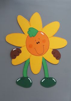 Window decoration - window picture, 2 happy children& sunflowers, clay cardboard - a design . Summer Crafts, Fun Crafts, Diy And Crafts, Paper Animal Crafts, Paper Crafts, Hobbies For Kids, Hobbies And Crafts, Kids Art Class, Art For Kids
