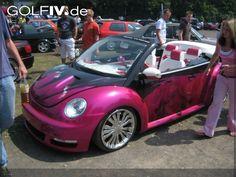 Pretty pink VW