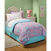 New Girls Daisy Flower Butterfly Pink Aqua Bedding