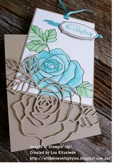 Wonderful Rose Wonder, Rose Garden thinlits, Stampin Up