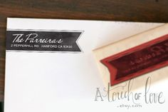 PENNANT Personalized Return Address Stamp. $21.95, via Etsy.-for when we move.