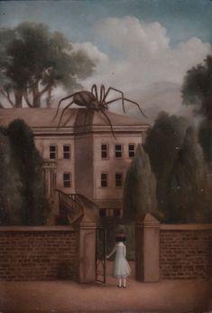 House of the Dream Doctor - Ingo Fincke Arte Horror, Horror Art, Arte Peculiar, Dark Paradise, Creepy Art, Lowbrow Art, Surreal Art, Dark Art, Art Inspo
