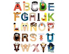 muppets alphabet poster or canvas at society 6 | baby shower gift guide