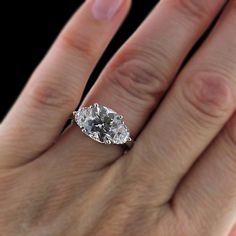 MiaDonna Diamond Hybrid - Sandra - Three Stone Engagement Ring