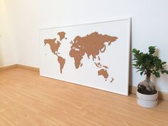 Cork board world map black cork boards cork and natural brown cork board world map white by onefancychimney on etsy gumiabroncs Choice Image
