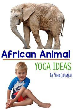 African animal yoga is the perfect addition to a unit on Africa, the continents, or animals. Make movement fun with an African animal yoga theme! Animal Activities For Kids, Gross Motor Activities, Animals For Kids, Africa Activities For Kids, Kids Yoga Poses, Yoga For Kids, Savanna Animals, Animal Yoga, Yoga Themes