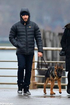 Jake Gyllenhaal took his dog for a walk in NYC on Thursday.