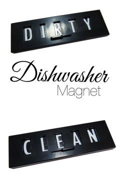 Clean and Dirty Dishwasher Magnet. #ad Unique organizational tool to have in the kitchen. Don't get stuck washing dishes twice... with this changeable magnet, you will always know if the dishes are clean or dirty! #kitchen #kitchenhardware #kitchenaccessories #magnet #clean #dirty #sign #organize #household #products