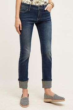 Pilcro Parallel Selvage High-Cuff Jeans - anthropologie.com