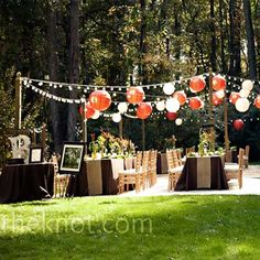Lighting for outdoor weddings or party's look so chic while illuminating your special night.