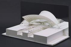 MoMA | The Collection | Santiago Calatrava. Lyons Airport Railroad Station, Lyons-Satolas, France. 1989-94