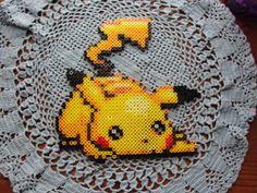 Perler Bead Pikachu. $25.00, via Etsy.