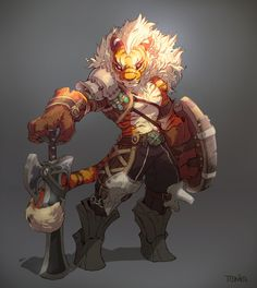 I like the armour designs on this artwork, I wouldn't use a tiger personally but Wolves and dragons are also usually on four legs so the idea can still help. Character Concept, Character Art, Concept Art, Character Illustration, Illustration Art, Dungeons And Dragons, Monster Design, Creature Concept, Character Design References