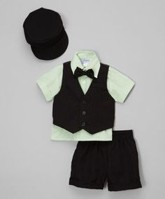 Love this Black & Green Button-Up Set - Infant, Toddler & Boys on #zulily! #zulilyfinds