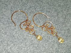 Wire earing - How to make wire jewelery 174 - YouTube