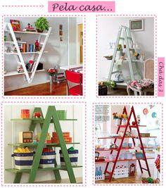 escada PELA CASA DIY CRIATIVIDADE SUSTENTÁVEL
