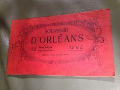 Antique 1900 WW1 era FRANCE french D'ORLEANS POSTCARD set/book 12 souvenir Rare