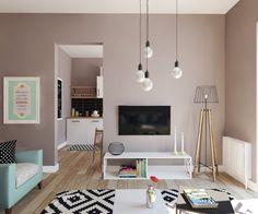 puristisches designer apartment - Dachwohnung Im Skandinavischen Stil