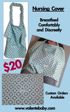Nursing Covers, Breastfeeding Accessories, Breastfeeding Cover, Cover Style, Baby Needs, Baby Feeding, Blue Flowers, Sewing Projects, Shopping