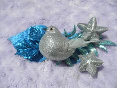 Arctic Blue Bird Clip by ButterflyHollowTree on Etsy