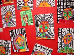 More 2nd Grade Abstract Self-Portraits