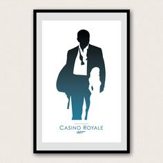 James Bond 007 Minimalist Poster Daniel Craig by WestGraphics