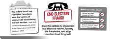 Judge Rules that 2011 Canadian General Election was a fraud - We MUST NOW demand a public inquiry and find the fraudsters PLEASE SIGN this petition - The Council of Canadians Native American Proverb, Vote Counting, Sign, Public, Signs, Board